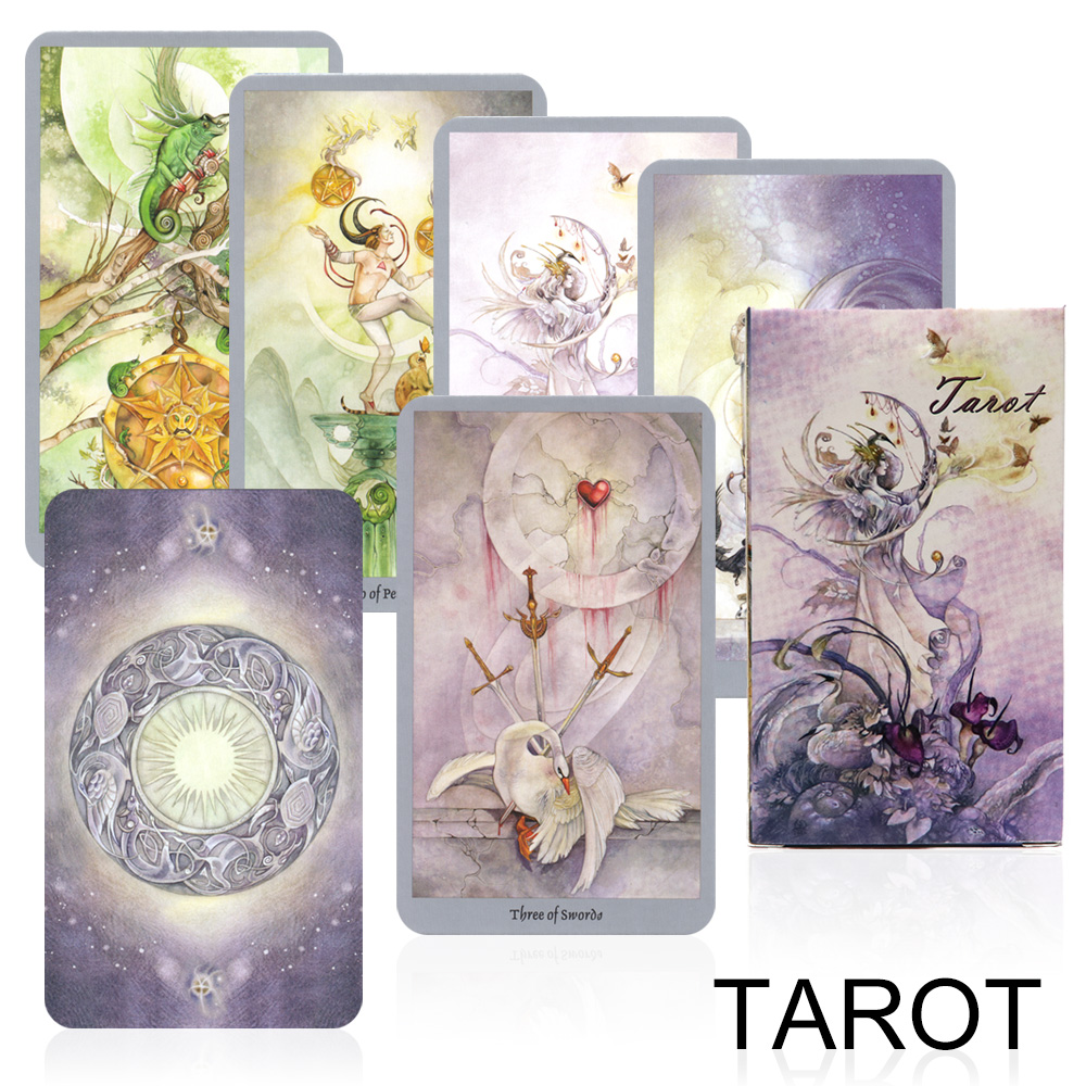 2020 Shadow Tarot Deck Mysterious Divination Card Game For Women English Version Board Game