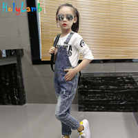 11.11 Denim Overalls Spring Children Clothing Girls Denim Jumpsuit Fashion Teenage Autumn Kids Pants For Girls