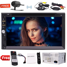 "EinCar Wireless Reverse Camera+7"" Double 2 DIN Car Stereo In Dash Head Unit DVD Player Bluetooth MP3 CD+3 UIs 7 Backlights"