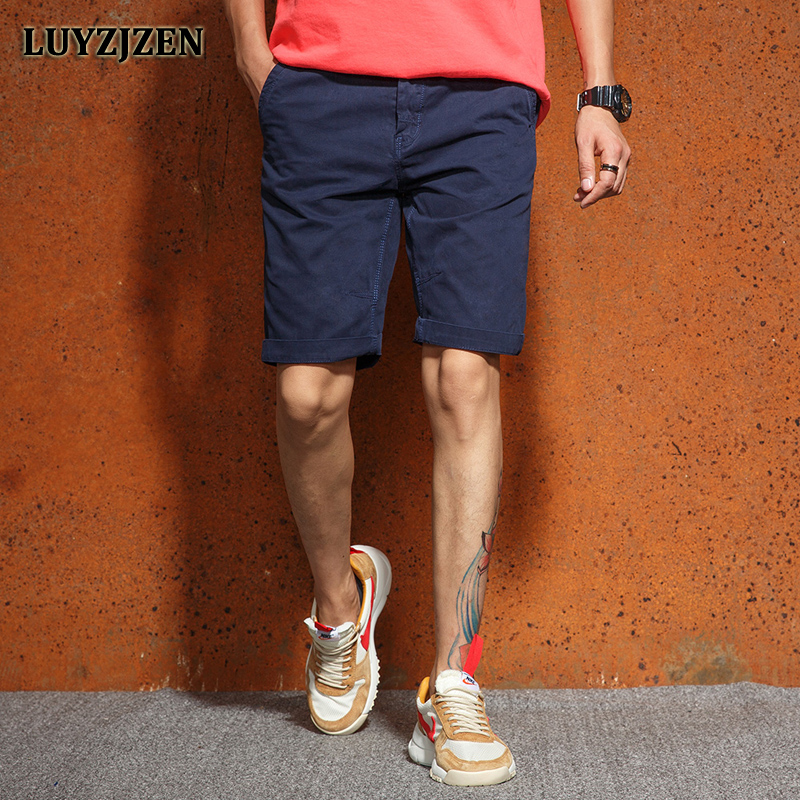 Mens Shorts Cotton Summer Casual Style Shorts Male Plus Size New Cargo Calf-Length Short Pants Bermuda Men Free Shipping F55
