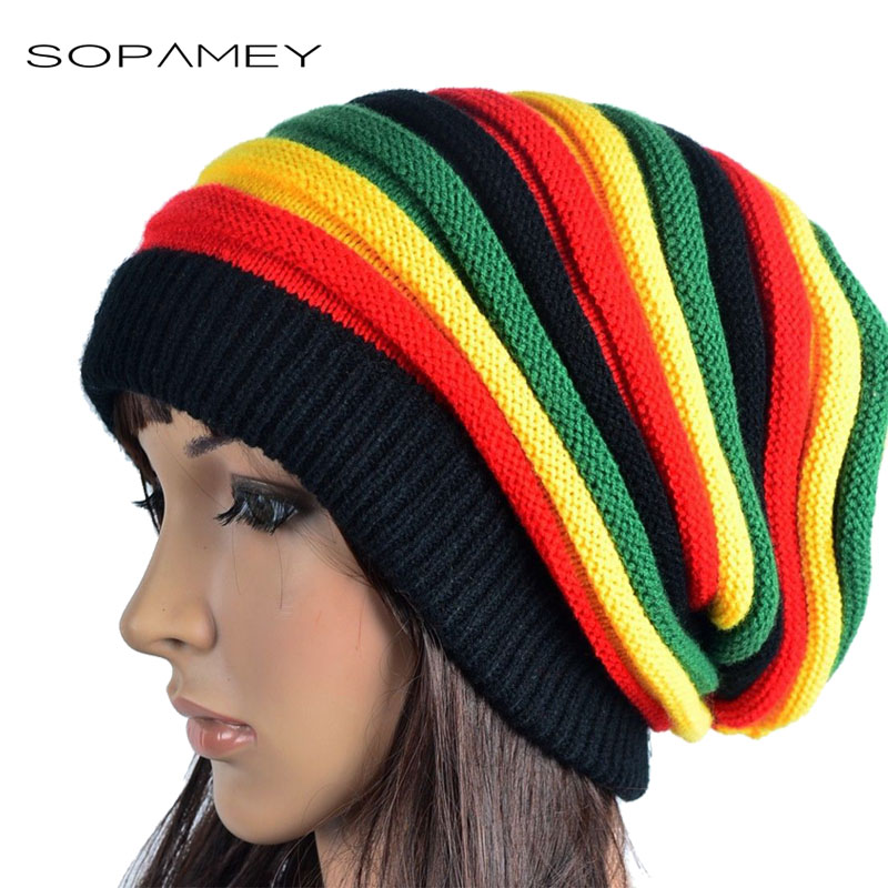 Winter Hip Hop Bob Jamaican cap Rasta Reggae Hat Multi-colour Striped Beanie Hats for Men Women new style Male Caps Gorros touca woman warm letters fukk knitted hats winter hip hop beanie hat cap chapeu gorros de lana touca casquette cappelli bonnets rx112
