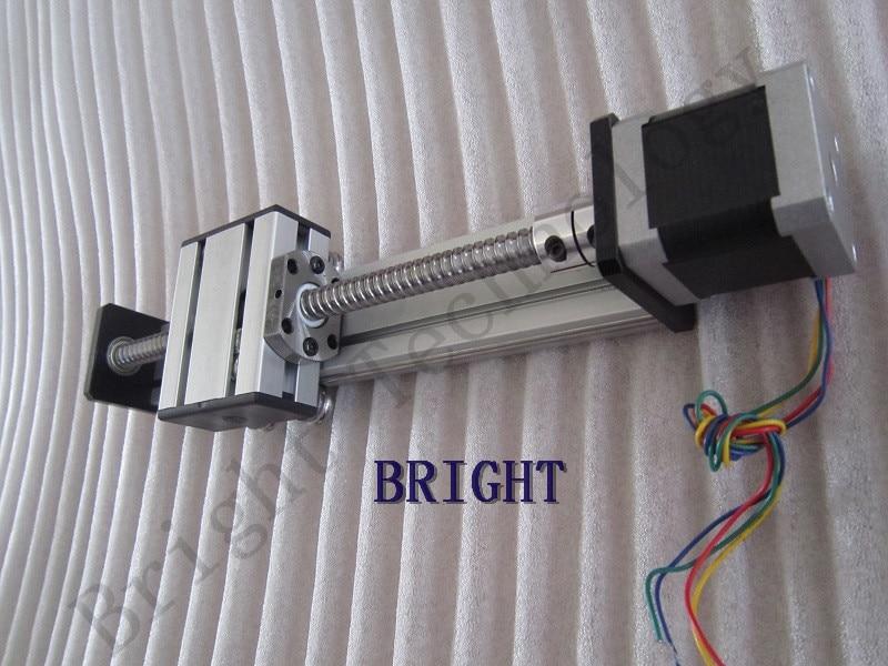 Linear Motion Module 400mm Travel length Ballscrew 1610 Sliding Table Linear Sliding Rail Systems + 57 Stepper Motor Nema 23 waterproof 981 ntsc cmos cctv camera w 48 ir led night vision purple