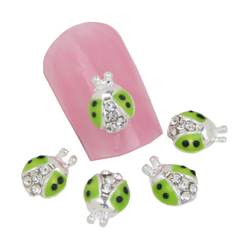 10pcs cute ladybug 3d nail art decorations glitter for 3d nail art decoration