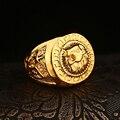 20 шт./лот оптовая продажа лев Anillo рок рисунок кольцо анель хип-хоп позолоченные кольца для мужчин и женщины возглавляют хип-хоп модный ювелирные изделия
