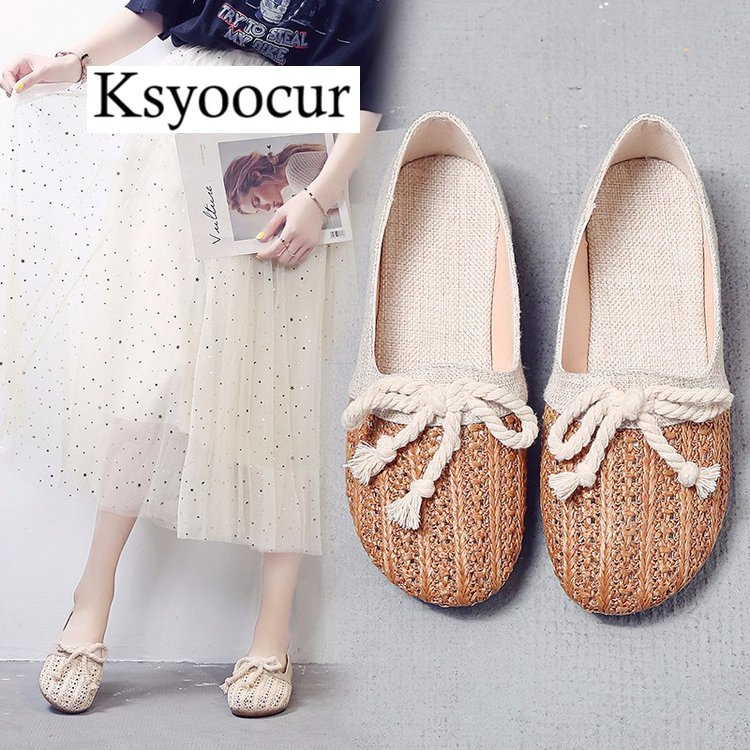 Image 3 - Brand Ksyoocur 2020 New Ladies Flat Shoes Casual Women Shoes Comfortable Round Toe Flat Shoes Spring/summer Women Shoes X03Womens Flats   -