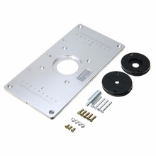 Buy router table plate aluminum and get free shipping on aliexpress mayirt 1pc aluminum metalrouter table insert plate with 4pcs router insert rings and fixing screws for greentooth Image collections