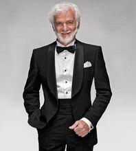 New Arrival Mature Man Formal Tuxedo, Men's Black Tailcoats, Custom Tailored 5 Piece Suits (Jacket+Pants+Shirt+Tie+Handkerchief)