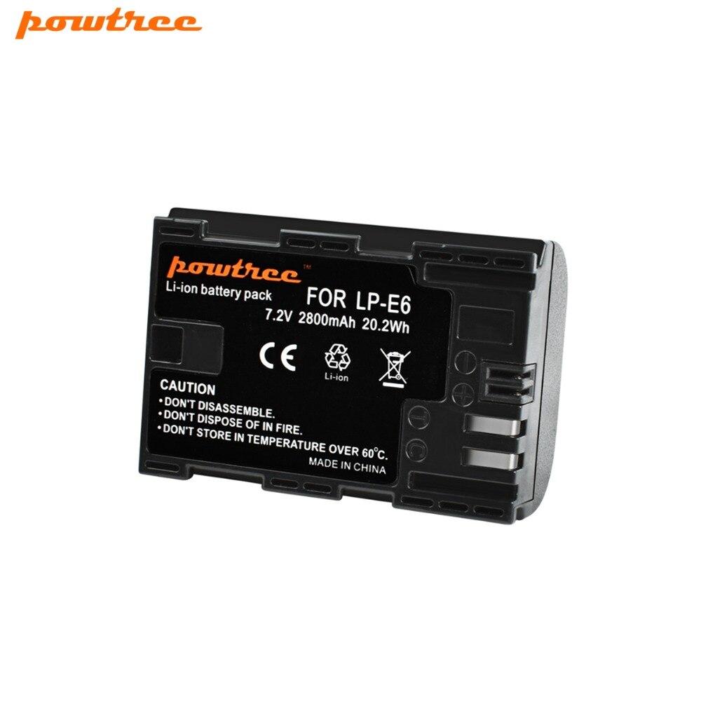 1X de batería de la Cámara de LP-E6 LPE6 LP E6 para Canon 5D Mark II Mark III EOS 6D 7D 60D 60Da 70D 80D DSLR L15
