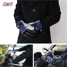 5 Color Windproof Car Gloves Motorcycle Gloves Winter Fingers Separated Polar Fleece Thermal car styling