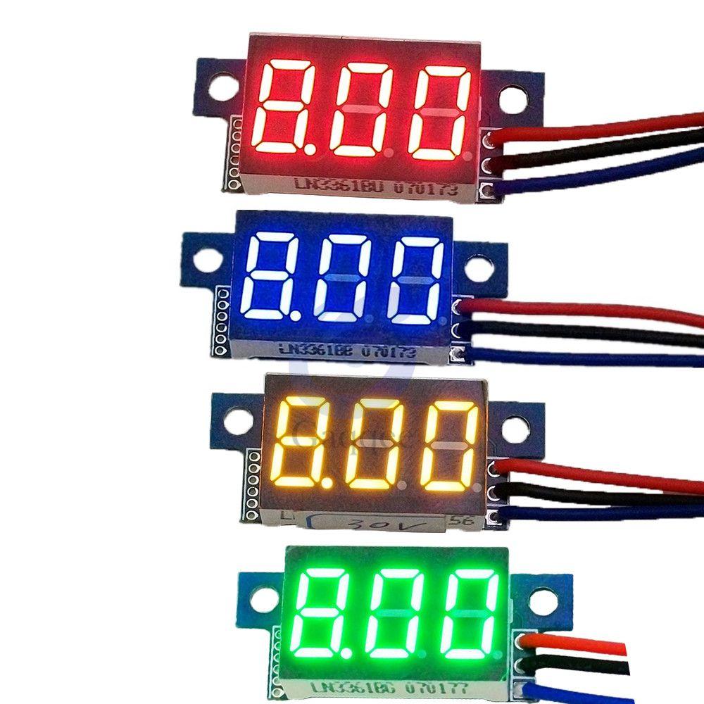 1Pc DC 0-100V 0.36 Inch Mini Digital Volt Meter Voltage Tester  3 Wire Digital Volt Indicator Car Voltmeter