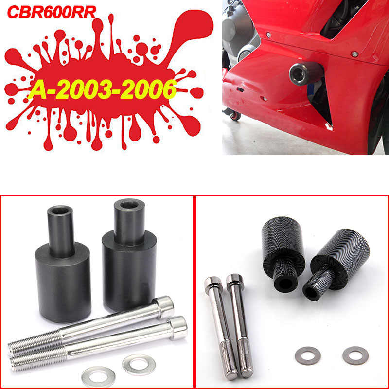 Voor Honda CBR600RR CBR 600RR CBR 600 RR 03-06 09-12 07-08 Geen Cut Frame slider Valblokken Falling Protector 2004 2005 2006 2007
