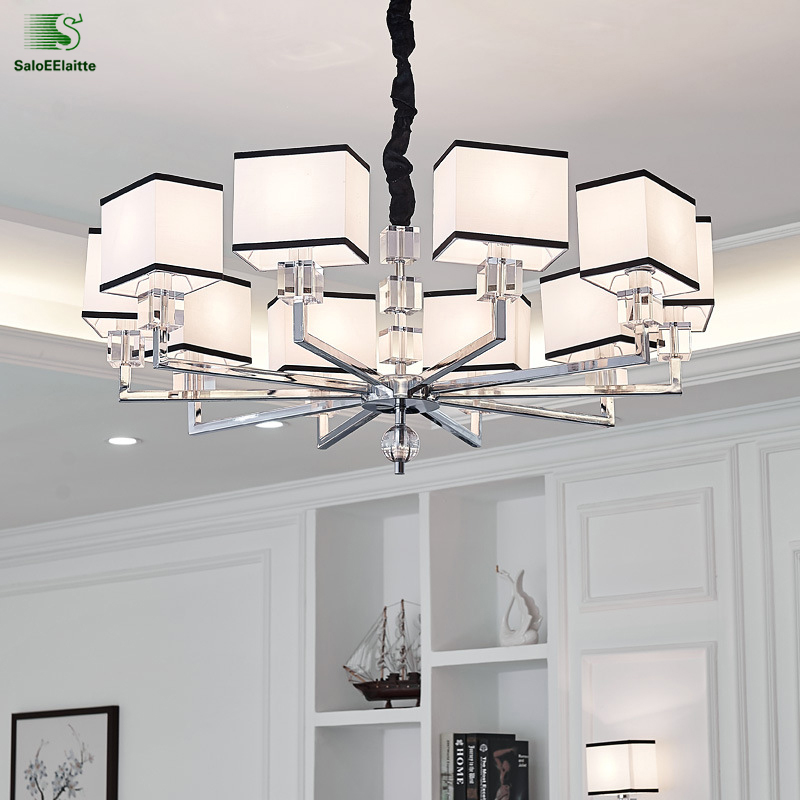 Modern Lustre Crystal Led Chandeliers Lighting Chrome Metal Living Room Led Pendant Chandelier Lights Dining Room Hanging Light modern lustre blue glass led chandeliers lighting copper living room led pendant chandelier lights dining room led hanging light