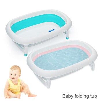 Bañera De Bebé Recién Nacido Con Sensor De Seguridad Plegable Para Bebés Bañera De Baño Duradera Para Niños
