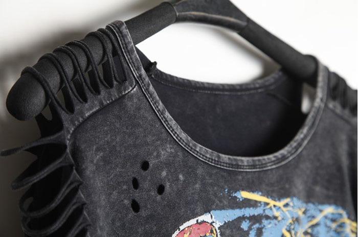 T-shirt Kvinder PLUS STØRRELSE Desigual Punk Rock Fashion Tops - Dametøj - Foto 2