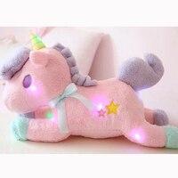 Nooer Luminous Led Light Stuffed Unicorn Plush Toy Soft Flashing Stuffed Animal Unicornio Doll Children Kids
