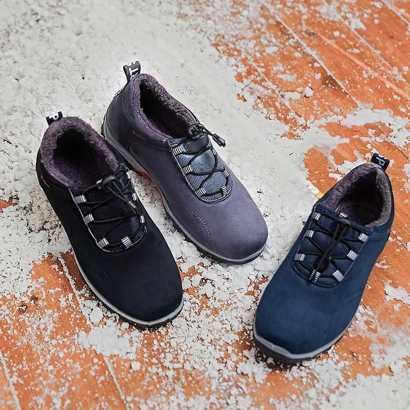 Hemmyi Sport Non Dentelle slip Solides Nouvelle gris Air up Chaussures Hommes Mode En Peluche De Sneakers Appartements Chaleur Confortable Plein Noir Hiver bleu PXiZkuOT