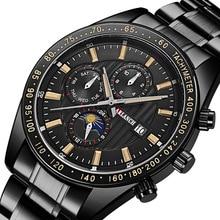 купить Fashion Men Watch 2019 Mens Watches Top Brand Luxury Full Steel Quartz Wrist Watch Men Casual Waterproof Watch relogio masculino по цене 911.19 рублей