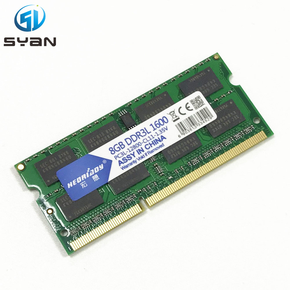 RAM 4GB 8GB 1333 1600 DDR3L Memory Ram Memoria Sdram Laptop Notebook For Macbook Pro A1278 A1286 A1181 A1342 Memory