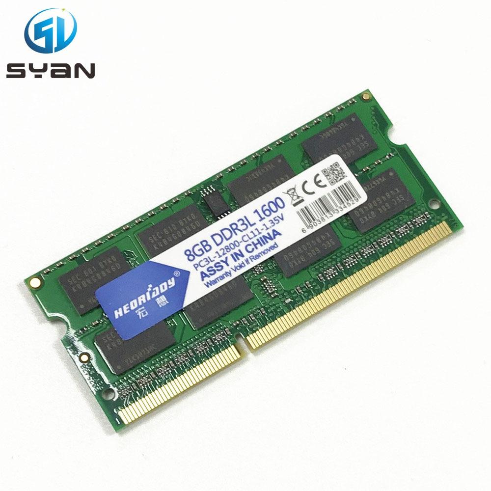 RAM 4GB 8GB 1333 1600 DDR3L Memory Ram Memoria Sdram Laptop Notebook For Macbook Pro A1278 A1286 A1181 A1342 Memory