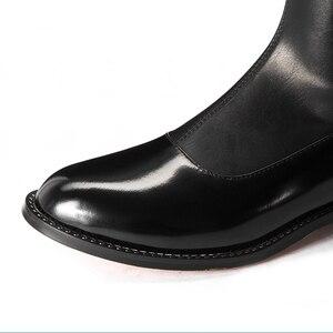 Image 5 - FEDONAS 2020 moda marka Stretch prawdziwej skóry buty kobiety ponad buty do kolan Sexy zamek jesień buty damskie zimowe buty