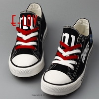 Wholesale New York Giants Super Bowl Print Fashion Custom Canvas Shoes USA NY Giants Fans Baseball