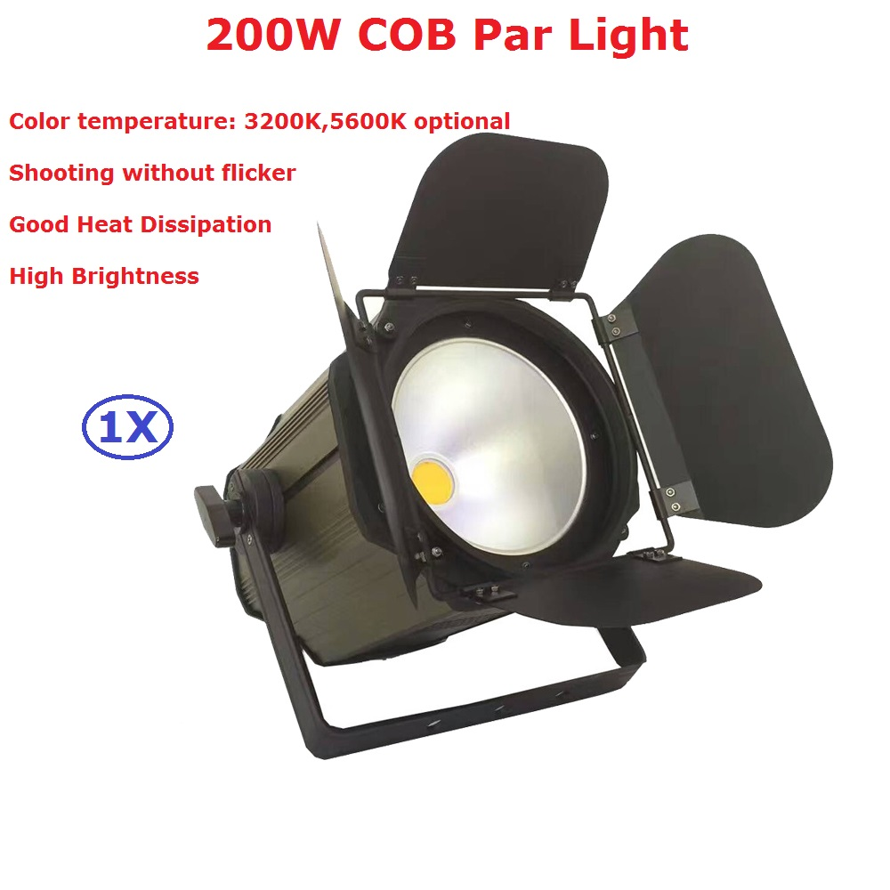 LED Par Light COB 200W High Power Aluminium DJ DMX Led Beam Wash Strobe Effect Stage Lighting,Cool White and Warm White Optional