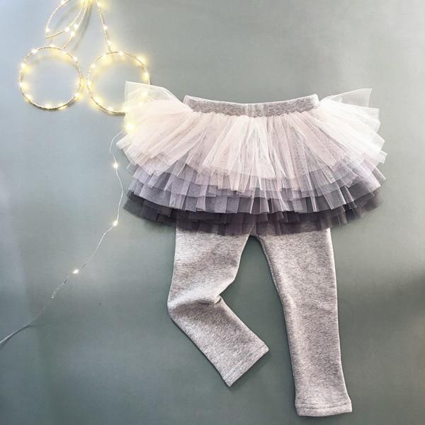 Детские леггинсы; леггинсы для девочек; юбка-пачка; брюки; юбка для малышей; леггинсы; детская одежда - Цвет: Серебристый