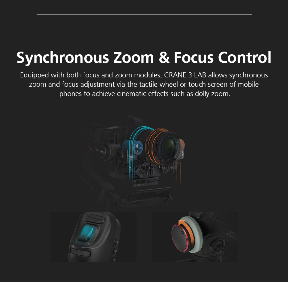 Zhiyun Crane 3 Lab Crane 2 Upgrade Version 3-Axis Gimbal Stabilizer for DSLR Cameras, 1080P Full HD Wireless Image Transmission 11