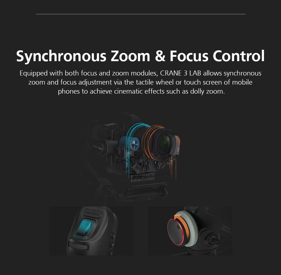 Zhiyun Crane 3 Lab Crane 2 Upgrade Version 3-Axis Gimbal Stabilizer for DSLR Cameras, 1080P Full HD Wireless Image Transmission 11