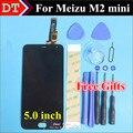 """Высокое Качество Для Meizu М2 мини Сенсорный Экран Digitizer + ЖК-Дисплей Для Meizu М2 мини 5.0 """"мобильный телефон Черный Цвет Бесплатная Доставка"""