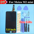 """De alta Qualidade Para Meizu M2 mini Digitador Da Tela de Toque + Display LCD Para Meizu M2 mini 5.0 """"celular Preto Cor Frete Grátis"""