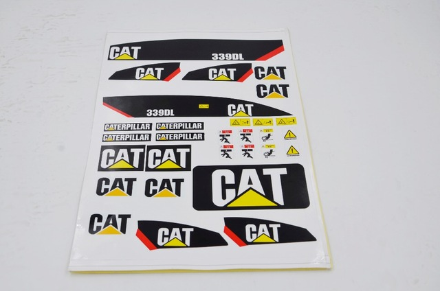 Stickers for 1/12 hydraulic rc excavator -in Stickers from ...