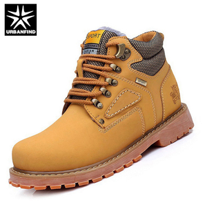 Image 2 - URBANFIND รองเท้าผู้ชายฤดูหนาวรองเท้าอุ่น Plush ภายในขนาดใหญ่ EU 38 44 VINTAGE Man รองเท้าหนัง Lace Up รองเท้าแฟชั่นผู้ชาย