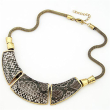 Diomedes Gothic Punk Snake Chain Pendant Collar Link Statement Necklace 705#30 Gift