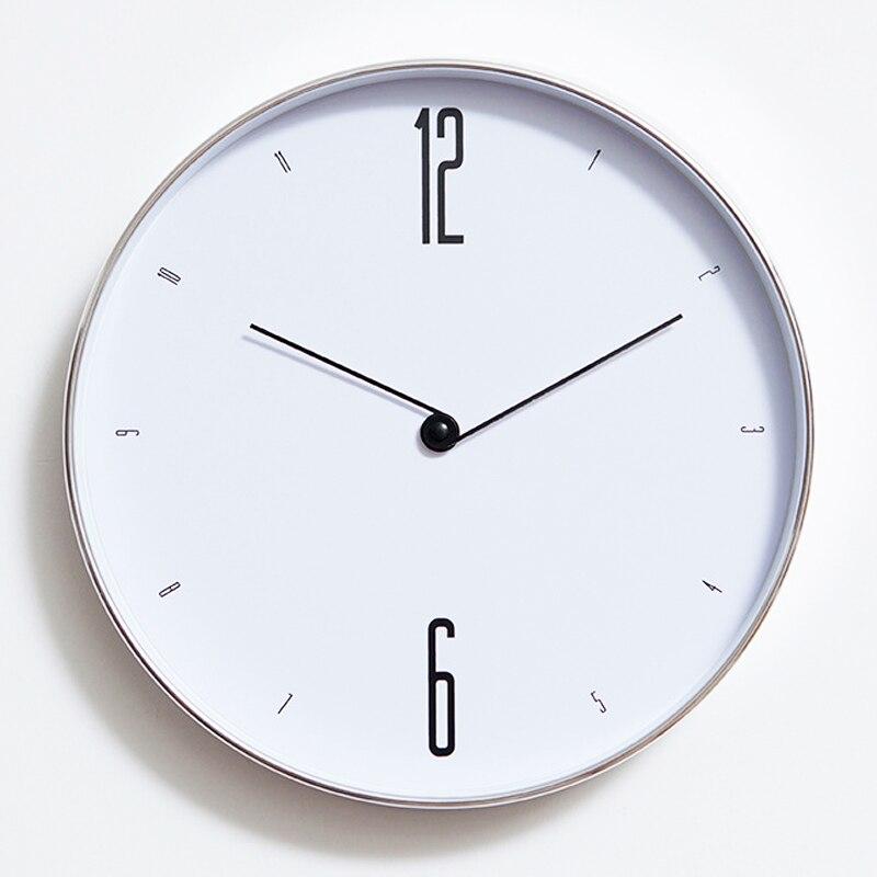 Nortic Простой настенные часы Современный Дизайн элегантный Часы творческий Европейский ретро Стиль настенные часы Домашний Декор Белый Тиха...