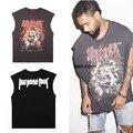 Moda verão 2017 Mais Novo Justin Bieber Deus Medo De Propósito Kanye West Yezzy camiseta Homens Hiphop Algodão Ocasional OVERSIZE Tee