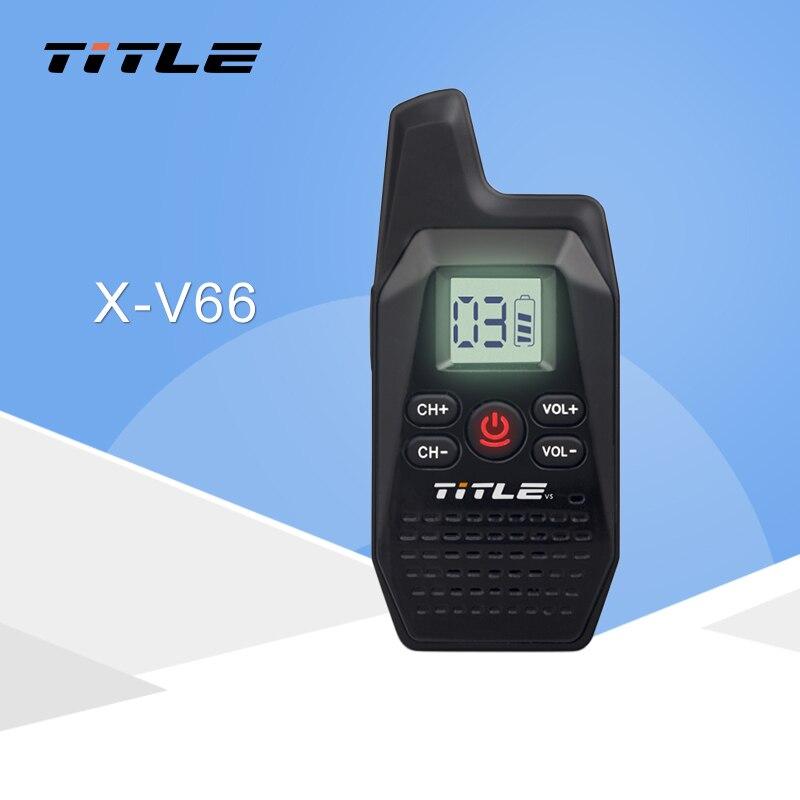 KSUN X-V66TFSI Мини Портативный двухканальные рации Ham двухстороннее радио трансивер UHF 400 мГц 480 с USB питание наушники
