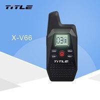 KSUN X V66TFSI Mini Portable Walkie Talkie Ham Two Way Radio Transceiver UHF 400 480MHz with USB Power Supply Earpieces