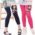 Anos de varejo 6 cor footless padrão meninas dos desenhos animados calças leggings miúdo roupas de vestido das crianças dos miúdos roupas da moda