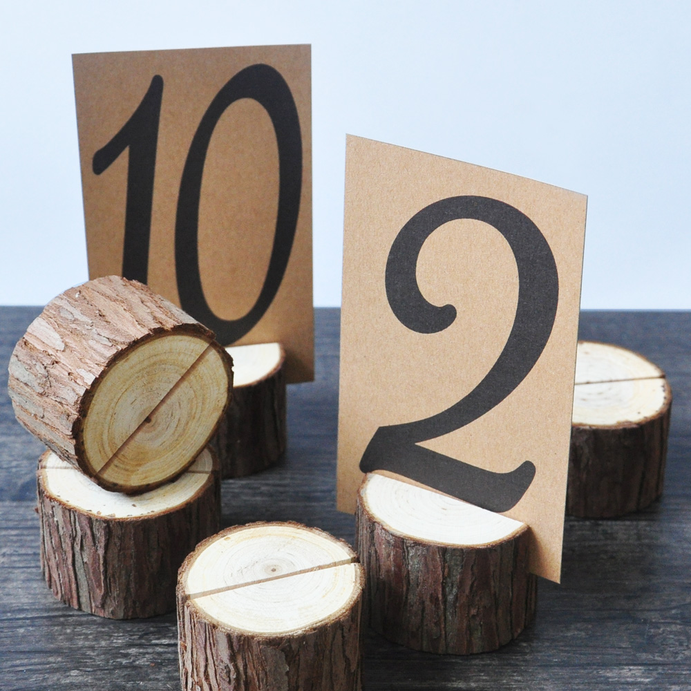 10 Pieces Rustic Wedding Table Number Holder Wooden Numbers TableTablen Stand Decor In Party DIY Decorations From