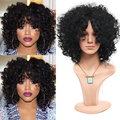 14inch Short soft kinky curly hair natural full wig  Charming short curly wig for black women heat resistant synthetic hair wig
