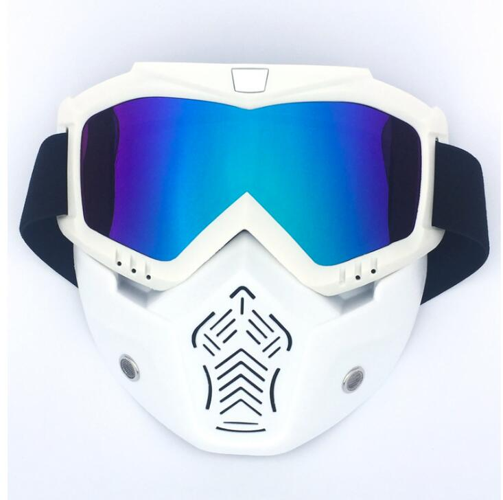 New Sales Modular Mask Detachable Goggles And Mouth Filter Perfect For Open Face Motorcycle Half Helmet Or Vintage Helmets