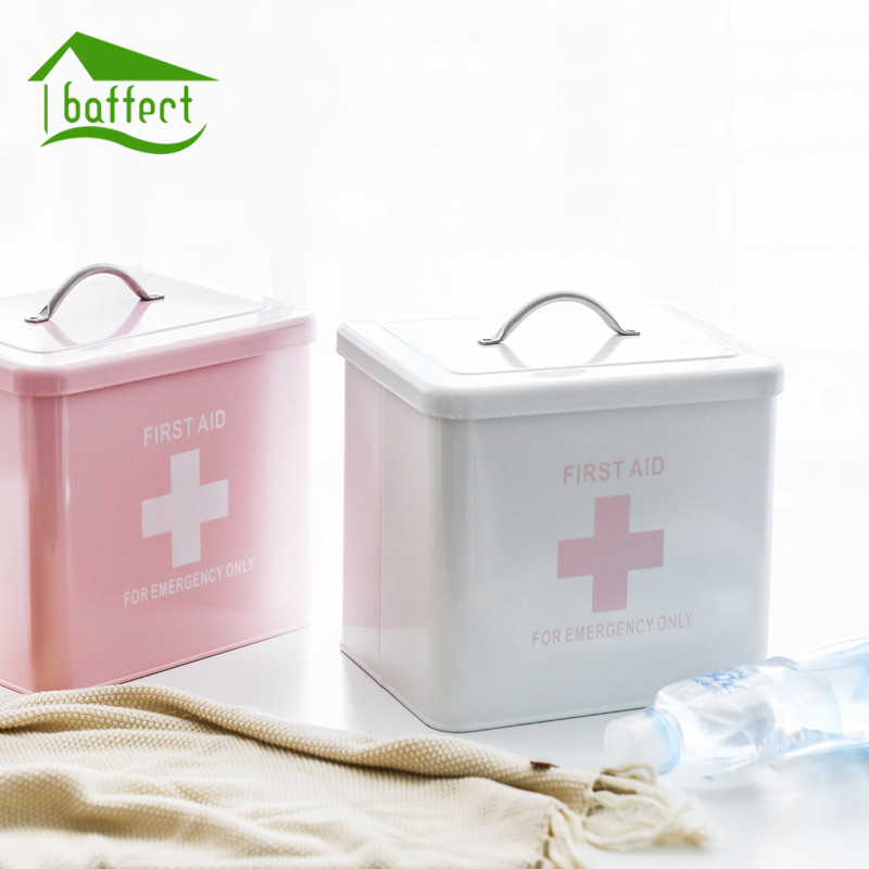 New Multi-layered Family Medicine Metal Medical Box Medical First Aid Storage Box Storage Medical Gathering Container Organizer