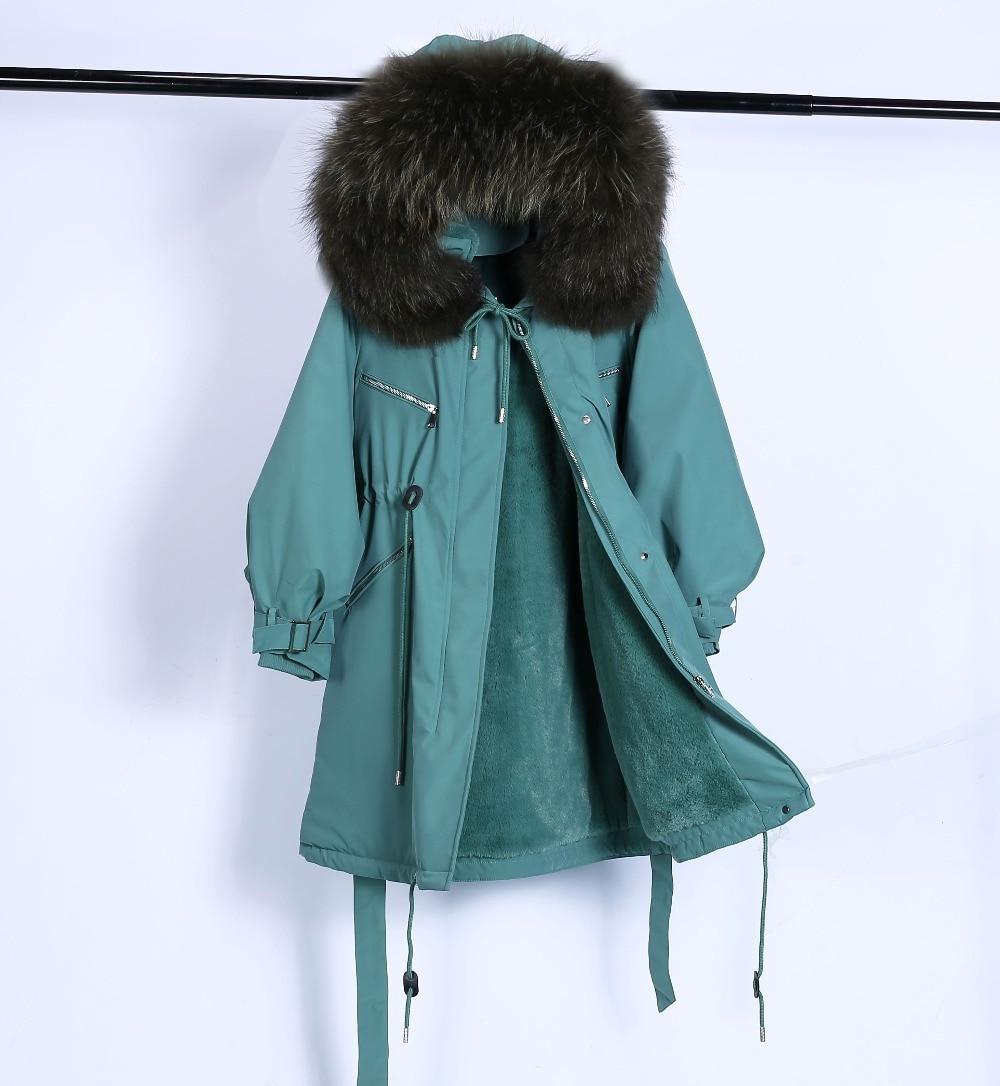 Large Natural Raccoon Fur Winter Jacket Women Hooded 19 Long Parkas For Female Thick Slim Down Winter Coat Women Waterproof 31