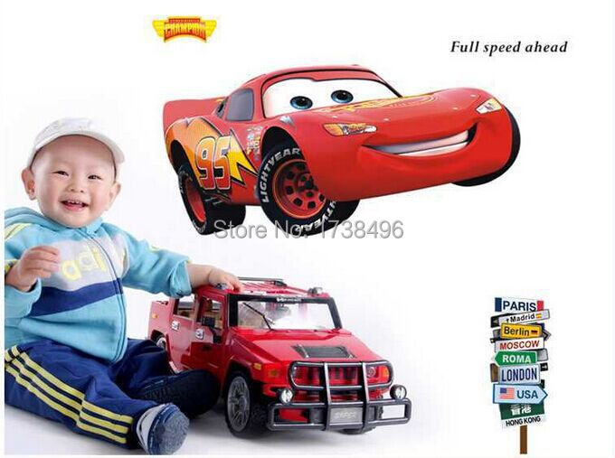 Ay9006 fashion 60 90cm large popular pixar car cartoon for Disney cars large wall mural