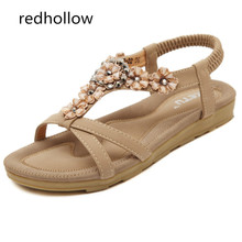 2019 Summer Sandals Women Shoes Comfort Summer Bohemia Flower Flat Women Shoes Beach Sandalias Mujer Fashion Flat Sandals цена 2017