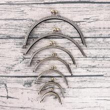 7 размеров DIY античный латунный металлический кошелек рамка кольцо поцелуй застежка ручка для сумки ремесло сумка изготовление Кошелек клип