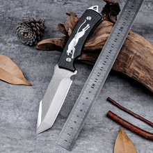 New Arrive Cool Leopard Pattern Fixed Blade Tactical Knife Hunting D2 Zakmes Cold Steel Facas Camping Outdoor Survive Knife
