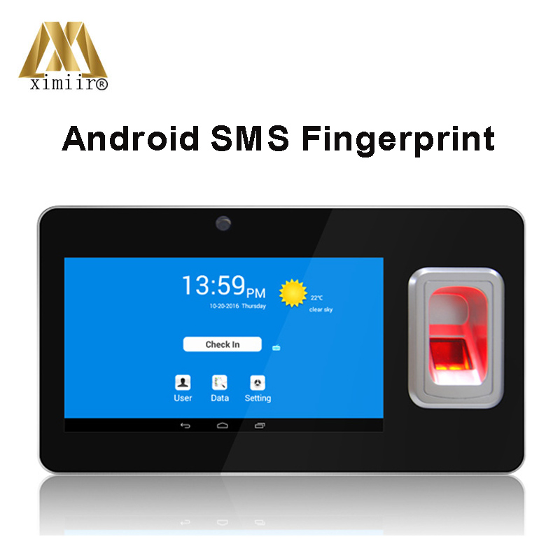 Biometric TCP/IP UT-268 SMS Function 7 Inch TFT Color Screen Fingerprint Android Using Device Time Attendance