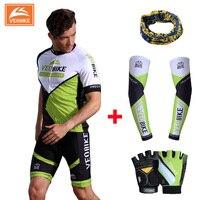 Veobike 2017 nuovo merida squadra verde degli uomini di sport bike ciclismo set coolmax jersey abbigliamento ciclismo breve bici del manicotto della camicia usura